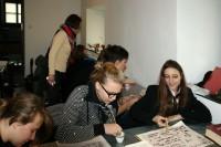 Zajecia z kaligrafii w muzeum
