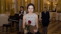 Klaudia Kozińska, rozdanie stypendiów w Sali Balowej Zamku Królewskiego w Warszawie w dniu 06.11.14 r.