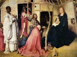 Bosch, Pokłon Trzech Króli, fragment, 1510