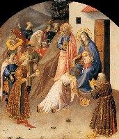 Fra Angelico, Pokłon Trzech  Króli, 1424