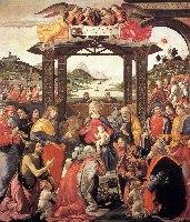 Ghirlandaio, Pokłon Trzech Króli, 1488