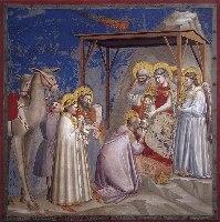 Giotto, Pokłon Trzech Króli, Capella Scrovegni, 1306