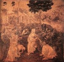 Leonardo, Pokłon Trzech Króli, 1482