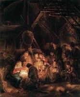 Rembrandt, Pokłon pasterzy, 1646