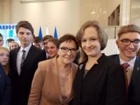 Od lewej: premier Ewa Kopacz, Oliwia Dryło