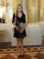 Karolina Kuchno, rozdanie stypendiów w Sali Balowej Zamku Królewskiego w Warszawie w dniu 24.11.15 r.