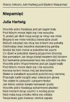 "Hartwig J. - ""Niepamięć"""