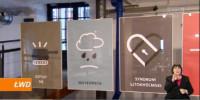 Plakaty T. Gorczycy na wystawie (fragment)