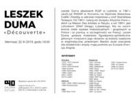 Biogram Leszka Dumy. Kliknięcie w miniaturkę obrazka spowoduje wyświetlenie powiększonego zdjęcia.
