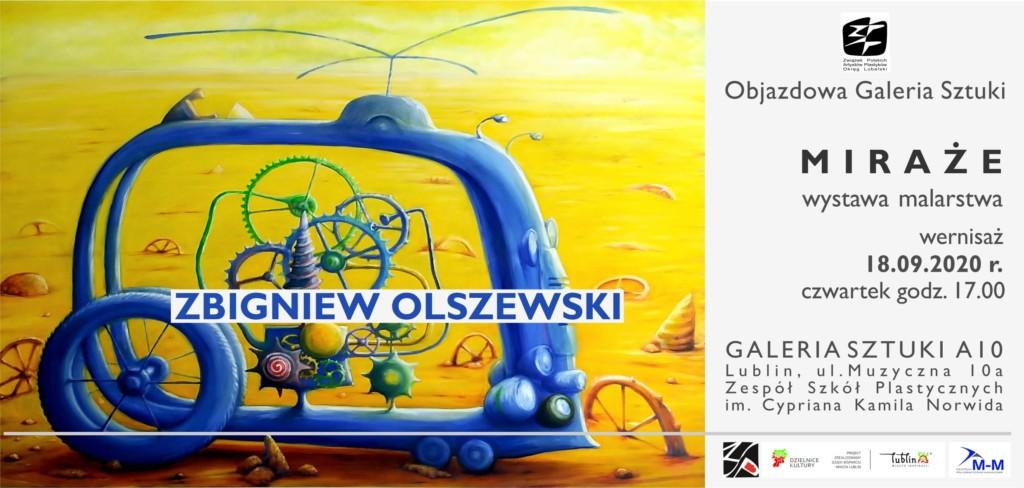 Plakat informacyjny. Wystawa malarstwa - Marcin Sudziński – wernisaż 29.10.2020 godz. 17.00 w galerii ZSP w Lublinie (Galerii A10).
