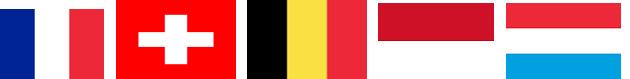 Flagi krajów francuskojęzycznych na świecie.