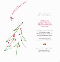 Karta z życzeniami świątecznymi. Kliknięcie spowoduje wyświetlenie powiększonego zdjęcia.