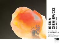 Na banerze wystawy Ireny Zieniewiecz jej praca malarska (abstrakcja). Kliknięcie w miniaturkę obrazka spowoduje wyświetlenie powiększonego zdjęcia.