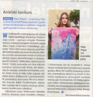 Artykuł i zdjęcie: Maja Poppe ze zwycięską pracą. Kliknięcie w miniaturkę obrazka spowoduje wyświetlenie powiększonego zdjęcia.