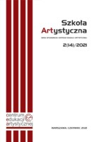 """Strona tytułowa publikacji pt. """"Szkoła Artystycznej"""" 2(14)/2021. Kliknięcie w miniaturkę obrazka spowoduje wyświetlenie powiększonego zdjęcia."""